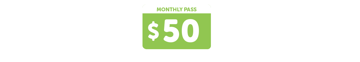 Auto-mobile + Monthly pass $ 50  = Auto-mobile unlimited