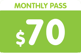 Monthly pass $70